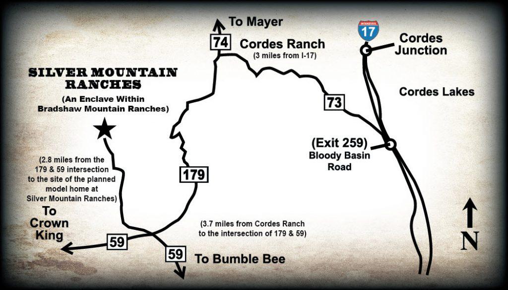 Silver Mountain Ranches Map